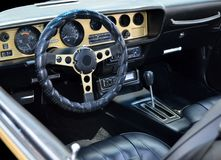 Classic customized car interior Royalty Free Stock Photo