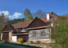 Classic czech wooden house Stock Photo