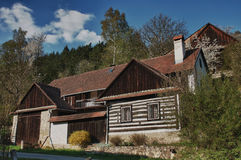 Classic czech wooden house Stock Image