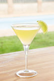 Classic daiquiri cocktail by a pool outdoors Stock Photos