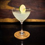 Classic Daiquiri in an Art Deco Coupe royalty free stock image