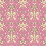 Classic damask floral pattern Royalty Free Stock Image