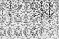 Classic damask patterned background. A lovely seamless pattern of a black and grey background of abstract repeat  of leaf shapes Stock Images