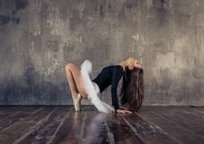 Classic dancer performing ballet moves Stock Photography
