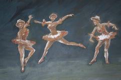 Classic dancers illustration Stock Image