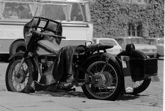 Classic Danish motorcycle Royalty Free Stock Photos