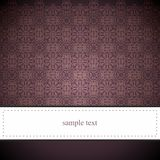 Classic dark brown elegant card or invitation Royalty Free Stock Photography