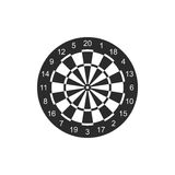 Classic dart board target icon isolated on white background. Vector Illustration Stock Photos