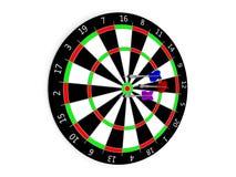 Classic Darts Board Stock Image