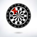 Classic Darts Board Stock Photography