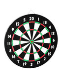 Classic Darts Board with Twenty Black and White Sectors Stock Images