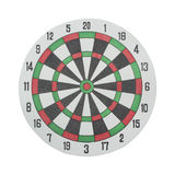 Classic Darts Board on a white Stock Image