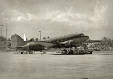 Classic DC-3 airplane Royalty Free Stock Photo