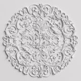 Classic decor with ornament decor on the white wall Stock Photography