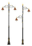 Classic decorative lamp post set Royalty Free Stock Images