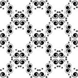 Classic decorative seamless  black-and-white texture Stock Images