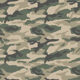 Classic camouflage desert pattern. A classic desert camouflage repeat pattern made seamless. Colours are in the brown khaki green tones but i looks just as nice Stock Illustration