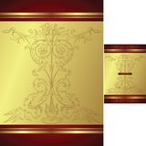 Classic design background. Llustration of elegance floral background for food and drink industry Royalty Free Stock Photo