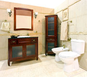 Classic design bathroom Stock Images