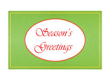 Classic design Christmas card, isolated Royalty Free Stock Image