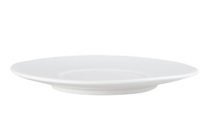 Clean single circle plate Royalty Free Stock Image