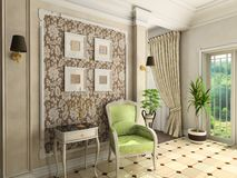 Classic design of interior royalty free stock photo