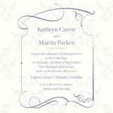 Classic design  page. Template cards. Wedding invitation. Royalty Free Stock Photo