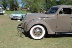 Classic desoto driven on field. Classic American car being driven on field. 1935 Desoto Airflow. Boca Raton Resort Club, south Florida Stock Photo