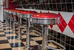 Classic Diner Bar Stools Royalty Free Stock Image