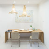 Classic dining room in house Stock Photo