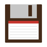 Classic diskette from 90s isolated. Icon on white background, vector illustration Stock Photos