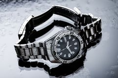 classic diving watch. suba diving. royalty free stock image