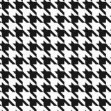 Classic dogstooth classic seamless vector pattern. stock illustration