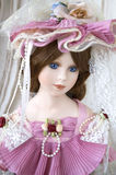 Classic doll. Lady classic doll in Victorian style Stock Photo