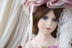 Classic doll face Royalty Free Stock Photo