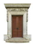 Classic door. Architectural style classic arch made ​​of marble carving. isolated Royalty Free Stock Image