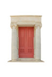 Classic door. Architectural style classic arch made ​​of marble carving. isolated Royalty Free Stock Images
