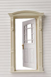 Classic door frame on white Stock Image