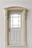 Classic door frame on white Stock Images