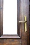 Classic door handle on wood door Royalty Free Stock Image