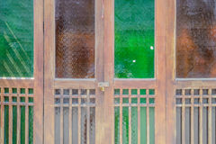The classic door with old panel timber Royalty Free Stock Photography