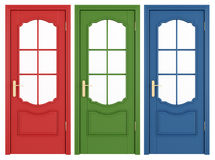 Classic doors Royalty Free Stock Photos