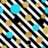Classic dotted seamless gold glitter pattern Royalty Free Stock Photos