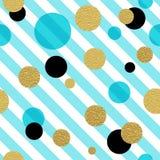 Classic dotted seamless gold glitter pattern Stock Photo