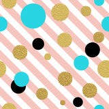 Classic dotted seamless gold glitter pattern. Stock Photography