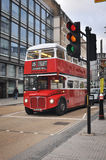 Classic double decker bus in London royalty free stock photos
