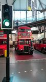 Classic double decker of London. Old double decker at London transport museum Stock Photo