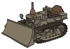 Classic dozer. Hand drawing of a vintage pimp Stock Image