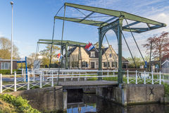 Classic  draw bridge in Holland, Netherlands Stock Photography