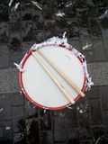 Classic drum and drumsticks Royalty Free Stock Photography